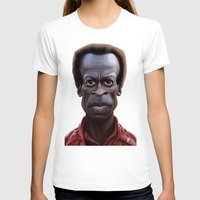 miles davis T-shirts featuring Celebrity Sunday ~ Miles Dewey Davis by rob art | illustration
