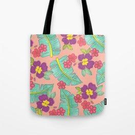 tropical hawaiian flowers Tote Bag