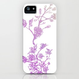 Wreath Floral In Pink And Purple iPhone Case