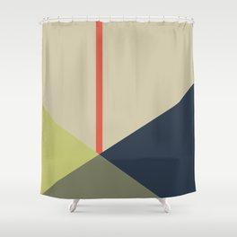 bandana || camou & coral Shower Curtain