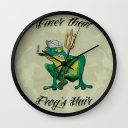 Navy Frog Wall Clock