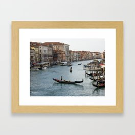 Gondolas in the Grand Canal in Venice Framed Art Print