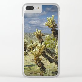Cactus called teddy bear cholla No.0265 Clear iPhone Case
