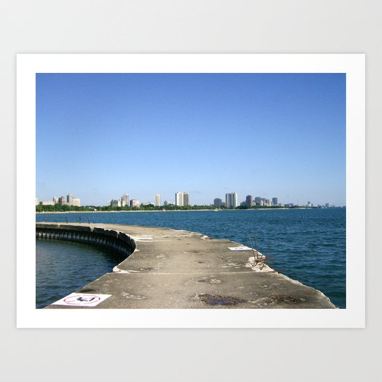 Lake Shores of Chicago Art Print