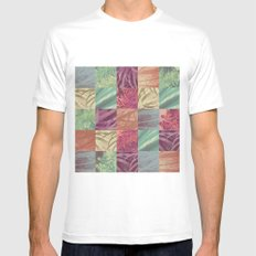 Nature pattern Mens Fitted Tee MEDIUM White