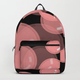 Pink Bubbles with Black Background  Backpack