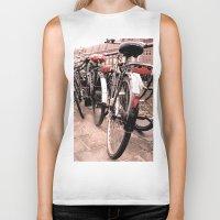 bikes Biker Tanks featuring Amsterdam Bikes by Ann Yoo