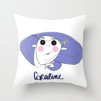 coraline Throw Pillows featuring Le Faccine - Coraline by Le Faccine