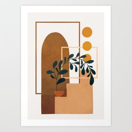 Modern Abstract Art 50 Art Print