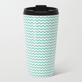 Chevron Mint Travel Mug