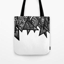Triangle Henna Print- B+W Tote Bag