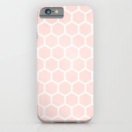 Blush Pink Coral Honeycomb iPhone Case