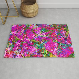 Floral Abstract Stained Glass G548 Rug