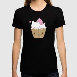 Kawaii Cute Cat Cupcake T-shirt