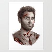 derek hale Art Prints featuring Derek Hale by maichan