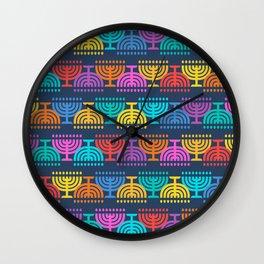 Hanukkah Menorah Pattern 2 Wall Clock