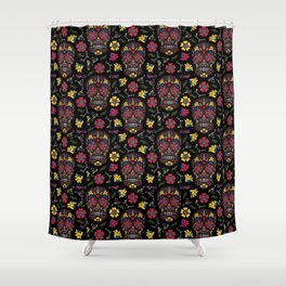 Day of the Dead Sugar Skull Shower Curtain