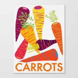 Eat Your Veggies - Carrots Canvas Print