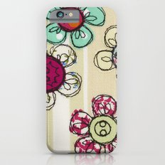 Embroidered Flower Illustration iPhone 6s Slim Case