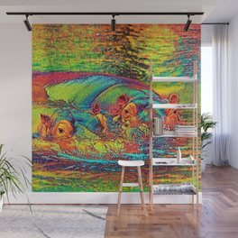 AnimalColor_Hippo_003_by_JAMColors Wall Mural