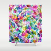 paradise Shower Curtains featuring Paradise by Schatzi Brown