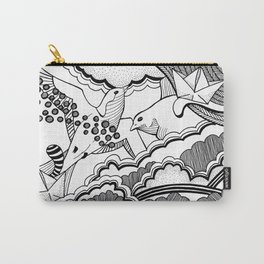 Swallows in the clouds Carry-All Pouch