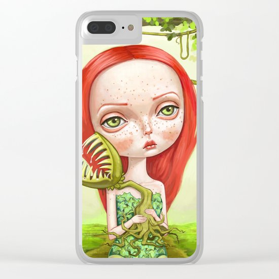 Poison Ivy Clear iPhone Case