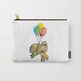 cute sloth in balloons Carry-All Pouch