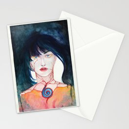 Fire in the heart, Water in the eyes Stationery Cards