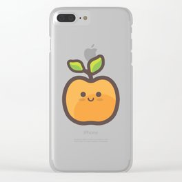 Kawaii Peach Emoji Clear iPhone Case