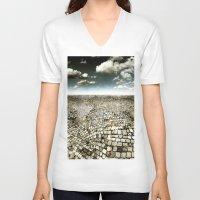 concrete V-neck T-shirts featuring Concrete Mind by Florin