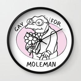 Gay For Moleman Wall Clock