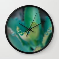 plants Wall Clocks featuring Plants by Belen Glaus