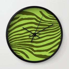 Animal Waves (Green Mood) Wall Clock