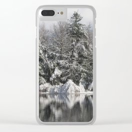 Snowy Reflections Clear iPhone Case
