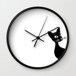 Meow Elegance Wall Clock