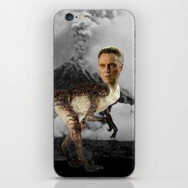 ChristopheRAPTOR Walken - Christopher Walken Velociraptor iPhone Skin
