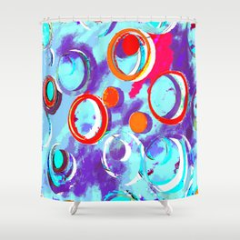 Circles of Many Colors Shower Curtain