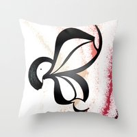 wiz khalifa Throw Pillows featuring Wiz by Je Nie Fleming