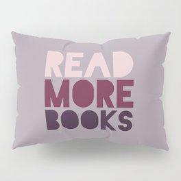 Read More Books (Purple) Pillow Sham