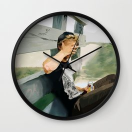 Ghosted Skater MkII Wall Clock