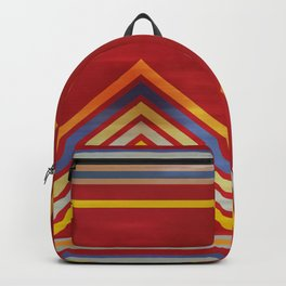 Stripes and Chevrons Ethic Pattern Backpack