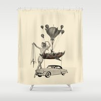 fig Shower Curtains featuring Fig.6. by TRASH RIOT