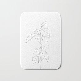 Still life plant drawing - Caca Bath Mat