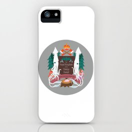 The Royal Kingdom of the Sleepy Forest (coloured circle) iPhone Case