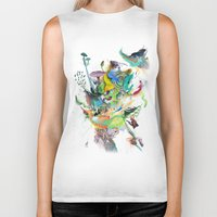 archan nair Biker Tanks featuring Numb by Archan Nair