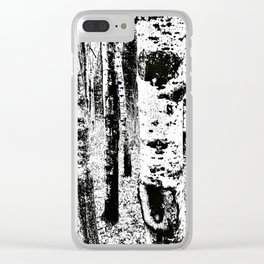 ghost trees Clear iPhone Case