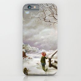 The Truth About Comets winter landscape surrealism painting by Dorothea Tanning iPhone Case