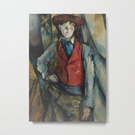 Boy in a Red Waistcoat Metal Print