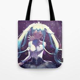 Snow Miku fanart print Tote Bag